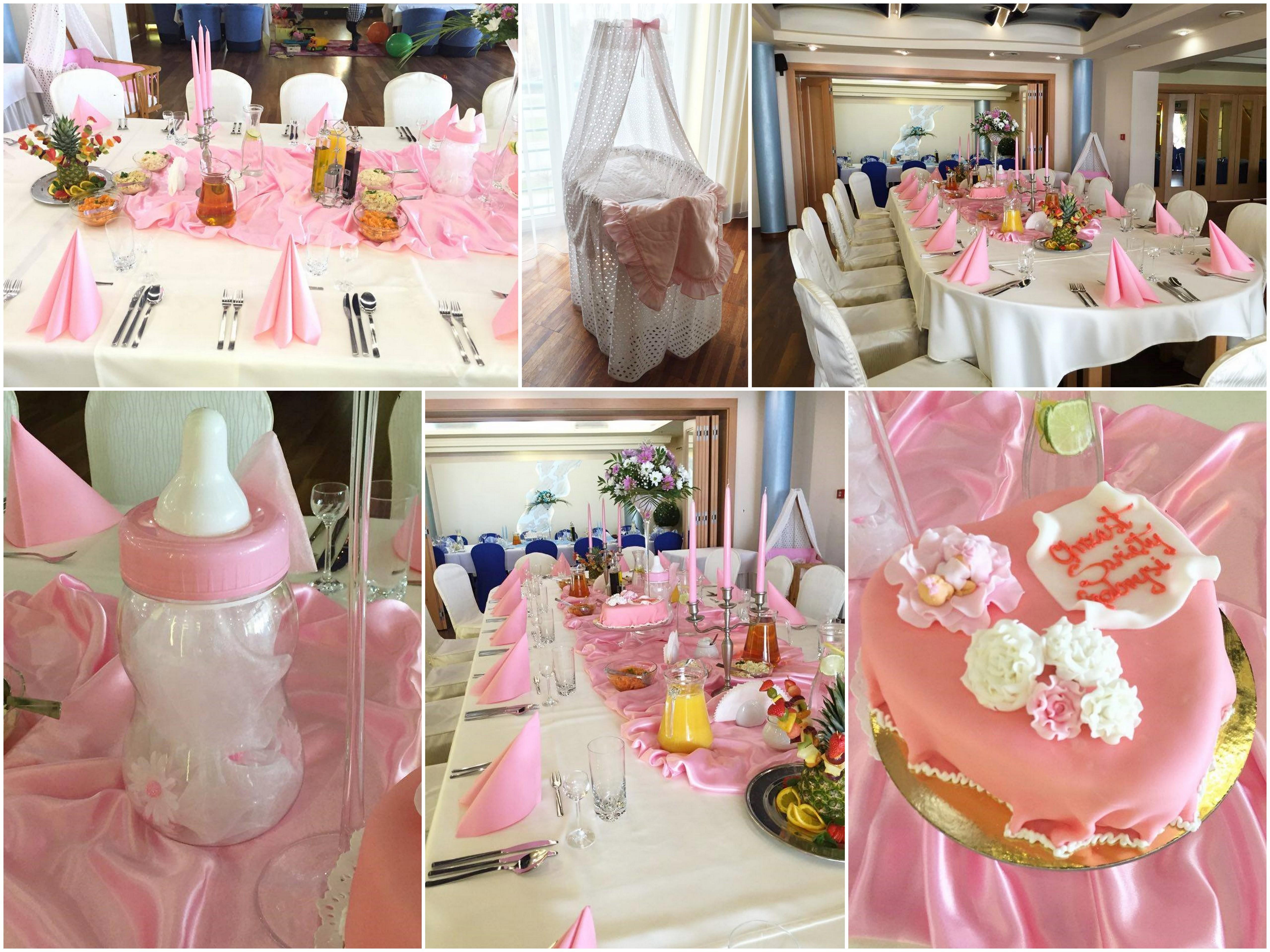 kolaż chrzest różowy w Restauracji Classic w Rzeszowie